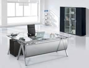 Executive Glass Office Desk Mof Me 4218 Glass Executive Desk