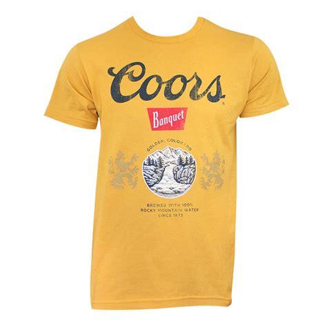 coors light t shirt coors banquet golden shirt
