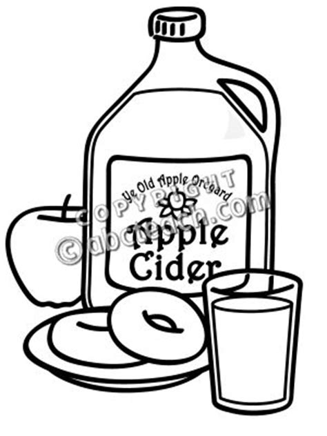 apple cider coloring pages apple cider and donuts illustration b w food clip art