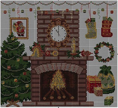 camino natalizio schema punto croce camino natalizio