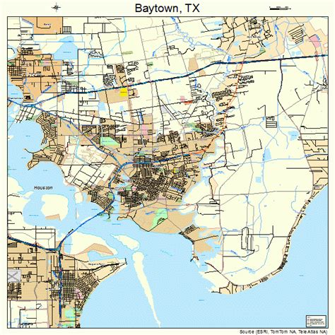 map baytown texas baytown texas map 4806128