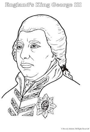 Coloring Page King George Iii | king george iii coloring page sketch coloring page