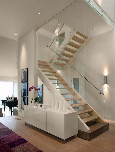 20 glass staircase wall designs with a graceful impact on
