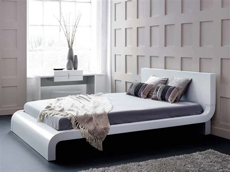 Accent Wall Ideas For Bedroom by Roma White Modern Bed Platform Bed Contemporary Bed