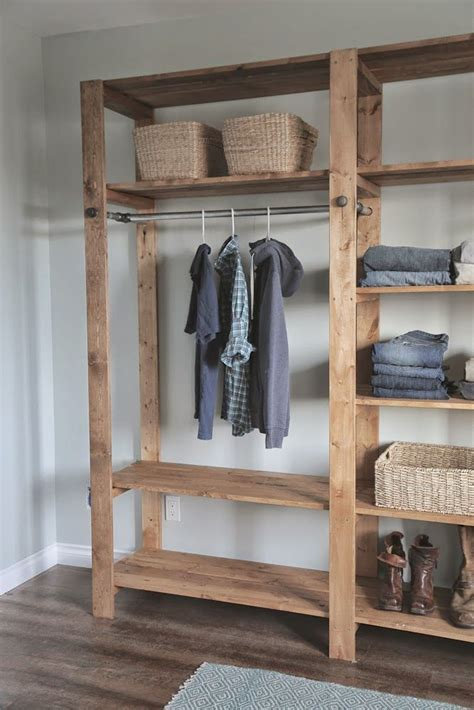rustic industrial shelving best 25 wood closet organizers ideas on closet redo laundry organizer diy and