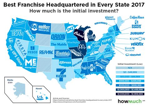best american franchises this map shows where the best american franchises started