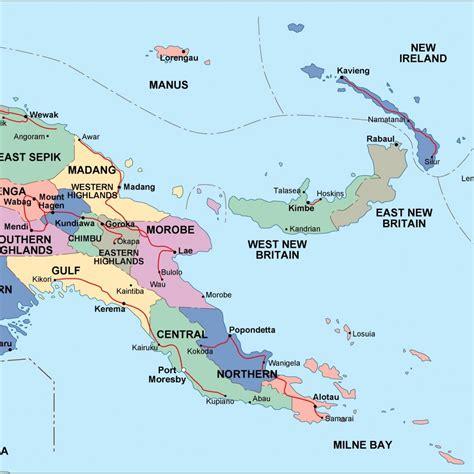 new guinea map papua new guinea political map eps illustrator map a