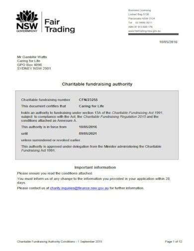 fundraising letter authority templates psd