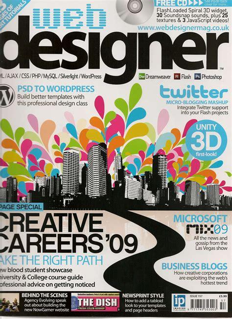 web design editorial layout got a mention in this months web designer magazine