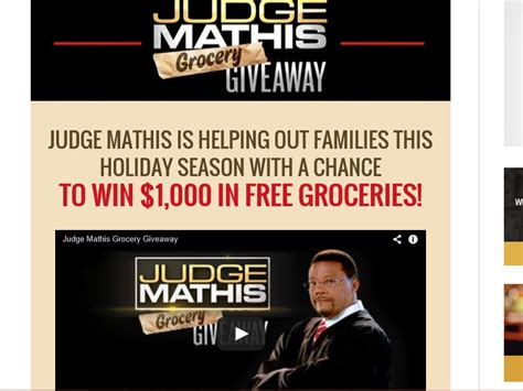 Judge Mathis Sweepstakes - judge mathis buys your groceries sweepstakes sweepstakes fanatics