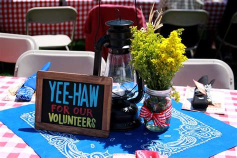 volunteer appreciation dinner centerpieces western theme fundraiser party ideas photo 1 of 17