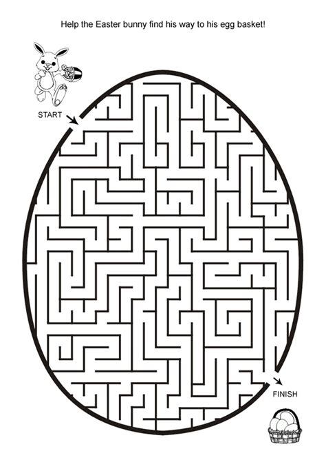printable easter art projects free online printable kids games easter egg hunt maze