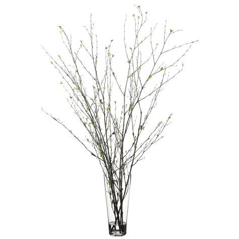 Branch Vase 52 inch branch arrangement in glass vase wf2495 gr br