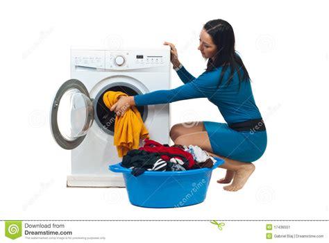 Tje Washing Loading Washing Machine Stock Image Image Of