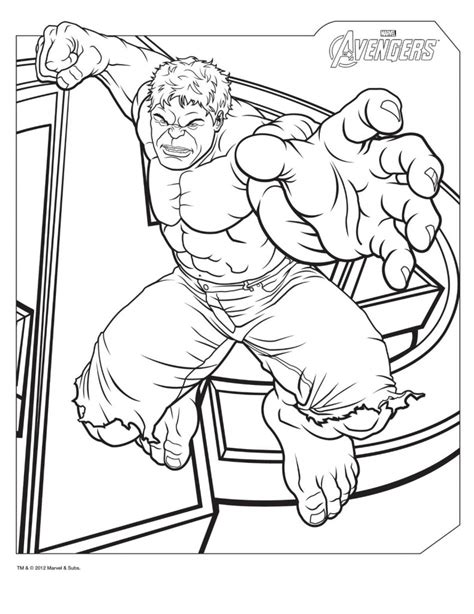 coloring page incredible hulk hulk coloring pages