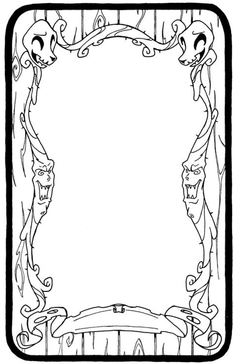 Tarot Card Blank Template by Tarot Border Pictures To Pin On Thepinsta