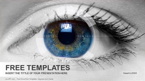 powerpoint templates free download vision colored eye medical powerpoint templates download free