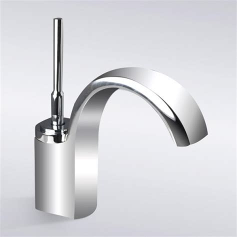 chrome finish waterfall single bathroom sink faucet