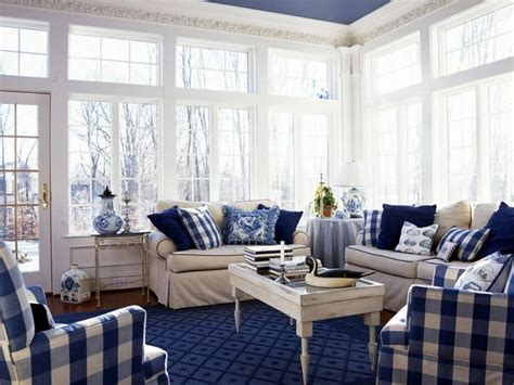 blue and white living room ideas navy and white buffalo check reupholster the wing chairs