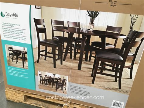 costco dining room sets bayside furnishings 7 square to dining set