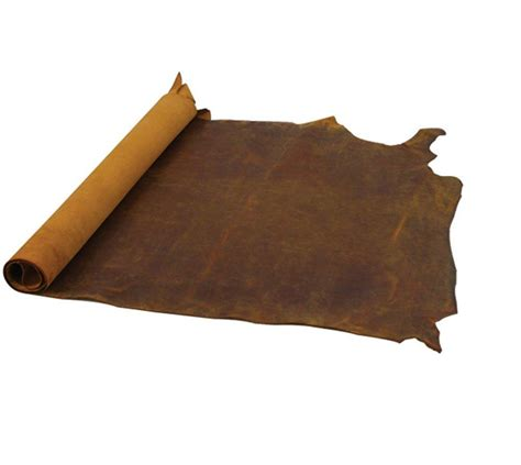 What Is Cowhide Leather - junetree cowhide cow leather brown thick genuine leather
