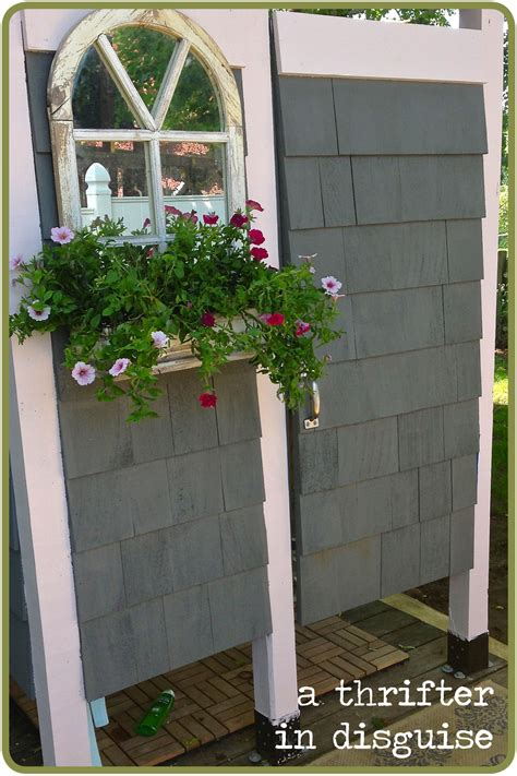 how to build a outdoor shower a thrifter in disguise outdoor shower enclosure