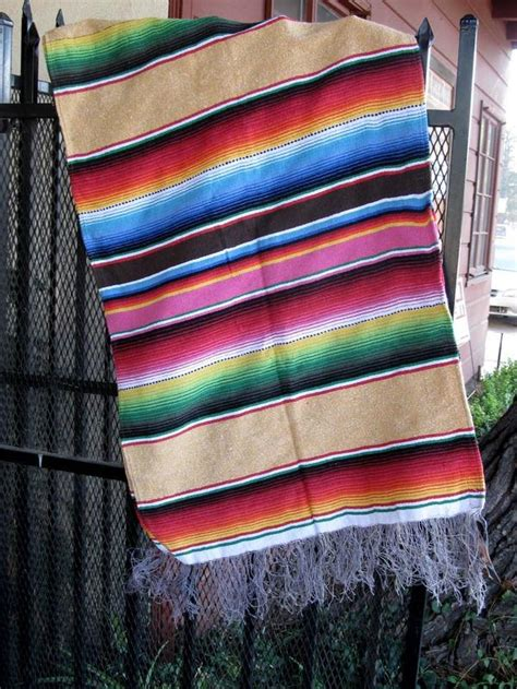 a sarape casa table runner or furniture throw satillo