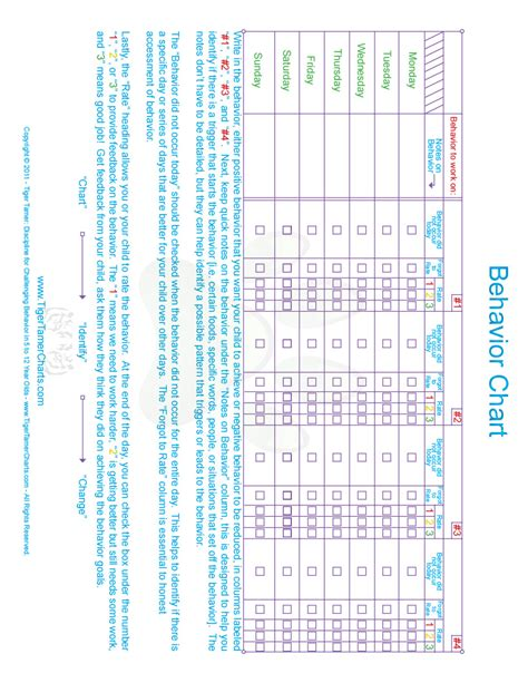 printable reward charts for 11 year olds search results for behavior charts for 10 year olds