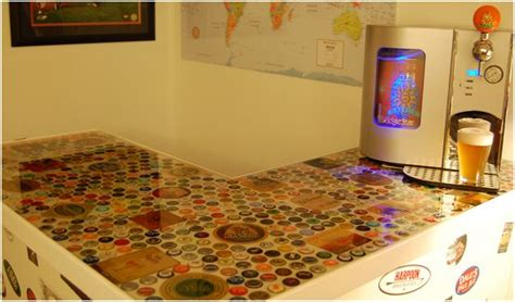 how to make a bottle cap bar top how to bottle cap bar top crafty dumpster diving