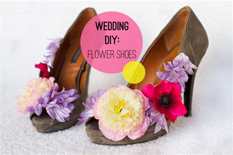 diy flower shoes wedding diy how to make flower shoes bespoke