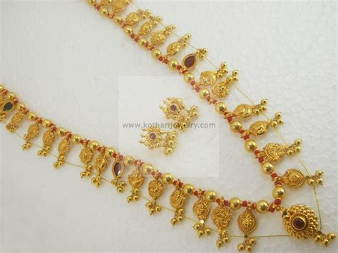 mukund pattern works kolhapur necklaces harams gold jewellery necklaces harams