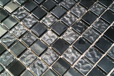 glasmosaik fliesen glasmosaik fliesen grau schwarz perlmutt g2323