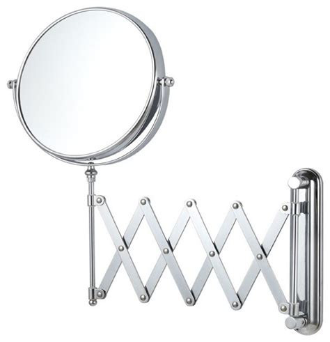 adjustable bathroom mirror double sided adjustable arm 3x makeup mirror