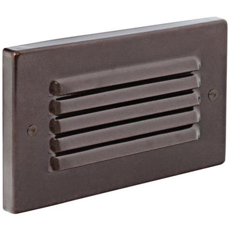 led mini step lights with louvers horizontal indoor outdoor bronze louvered led step light