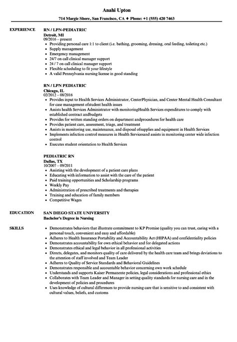Pediatric Resume by Pediatric Rn Resume Sles Velvet