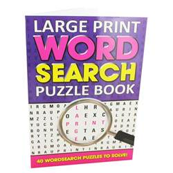 large print word search puzzle book by alligator books ltd
