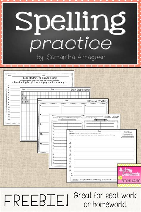 spelling worksheets ideas  pinterest spelling word activities spelling practice