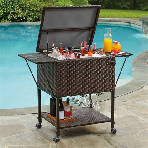 Patio patio cooler cart for outdoor party tools ideas whereishemsworth com