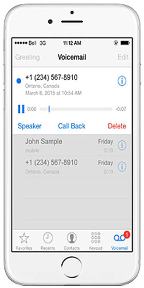 Iphone Voicemail Iphone Visual Voicemail From Bell Mobility