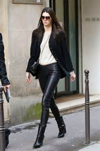 A Light In The Piazza Kendall Jenner Wearing Balenciaga Leather Leggings Celine