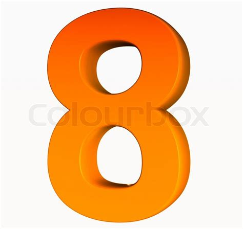 How To Organize Your Home Office orange alphabet number 8 3d isolated on white stock