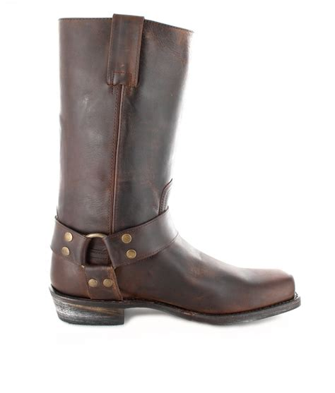 brown biker style boots fashion boots bu2001 camello biker boot brown fashion