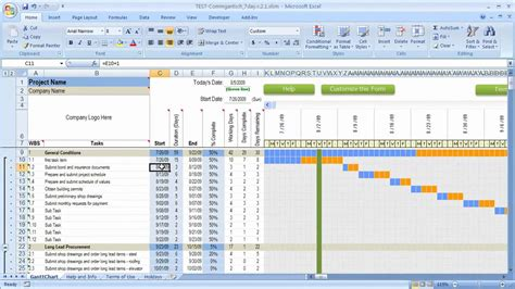 How Dates Work In Excel Schedule With Gantt Chart Youtube Excel Gantt Chart Template With Dates