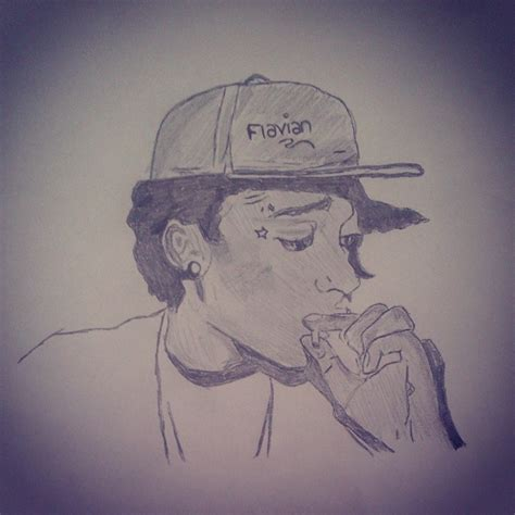 drawn marijuana smoke drawing pencil and in color drawn