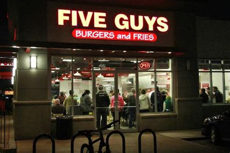 Five Guys You Would Get On With by 5 Guys Burgers And Fries Restaurant Picture Of Five Guys
