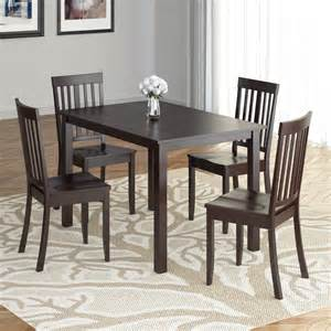 Sears Dining Room Sets by Corliving Atwood 5pc Dining Set With Cappuccino Stained