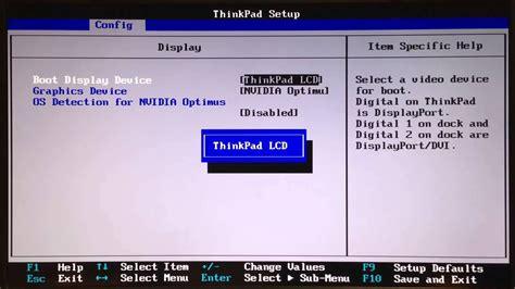 thinkpad w520 bios settings to allow discreet mode without windows 8 freezing