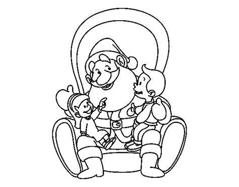 imagenes de santa claus para niños dibujo de santa claus con ni 241 os para colorear dibujos net