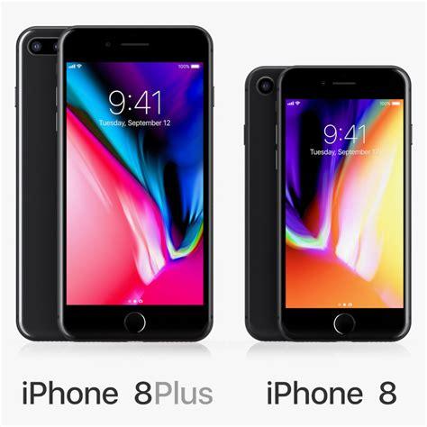 3 iphone models 3d model apple iphone 8 black turbosquid 1183968