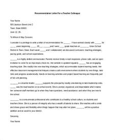 Sles Of Letters Of Recommendation For Teachers by Sle Recommendation Letter 8 Free Documents In Pdf Doc